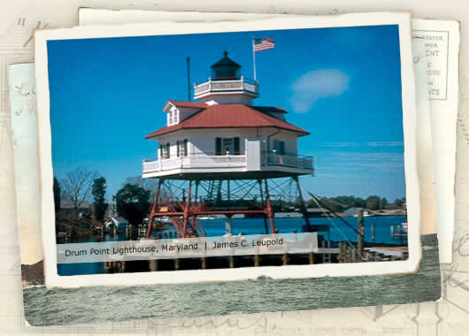 Photo of Drum Point Lighthouse, Maryland by James C. Leupold